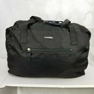 Gucci Packable Nylon Weekender Black Duffle Bag